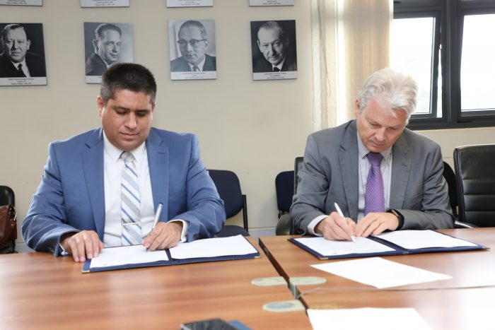Seated to the left: Mr. Jose Viera, CEO of World Blind Union and to the right, UN-Habitat's Director of Global Solutions, Mr. Rafael Tuts signing the MOU agreement to work together to make cities accessible for all
